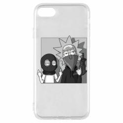 Чехол для iPhone 8 Rick and Morty Bandits