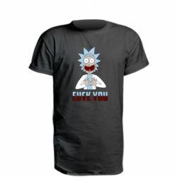 Подовжена футболка Rick and Morty fack and love you