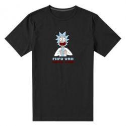 Чоловіча стрейчева футболка Rick and Morty fack and love you