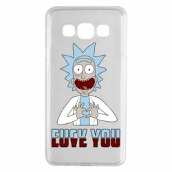 Чохол для Samsung A3 2015 Rick and Morty fack and love you