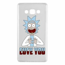 Чохол для Samsung A7 2015 Rick and Morty fack and love you