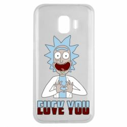 Чохол для Samsung J2 2018 Rick and Morty fack and love you