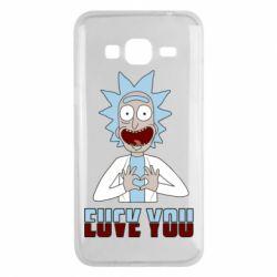 Чохол для Samsung J3 2016 Rick and Morty fack and love you
