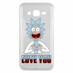 Чохол для Samsung J5 2015 Rick and Morty fack and love you