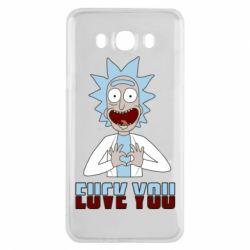 Чохол для Samsung J7 2016 Rick and Morty fack and love you