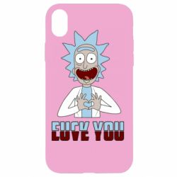 Чохол для iPhone XR Rick and Morty fack and love you