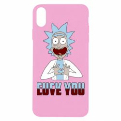 Чохол для iPhone Xs Max Rick and Morty fack and love you