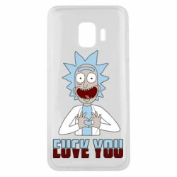 Чохол для Samsung J2 Core Rick and Morty fack and love you