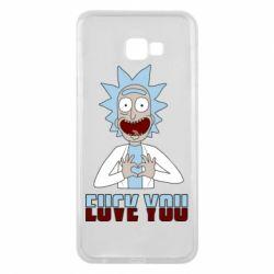 Чохол для Samsung J4 Plus 2018 Rick and Morty fack and love you