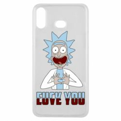 Чохол для Samsung A6s Rick and Morty fack and love you