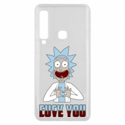 Чохол для Samsung A9 2018 Rick and Morty fack and love you
