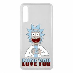 Чохол для Samsung A7 2018 Rick and Morty fack and love you