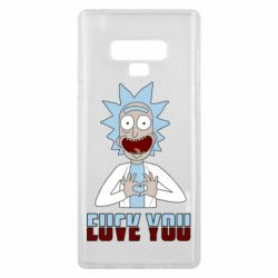 Чохол для Samsung Note 9 Rick and Morty fack and love you