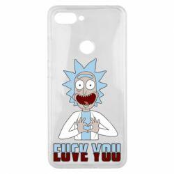 Чохол для Xiaomi Mi8 Lite Rick and Morty fack and love you