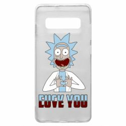 Чохол для Samsung S10+ Rick and Morty fack and love you