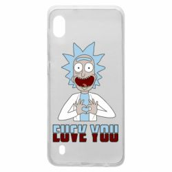 Чохол для Samsung A10 Rick and Morty fack and love you