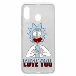 Чохол для Samsung A20 Rick and Morty fack and love you