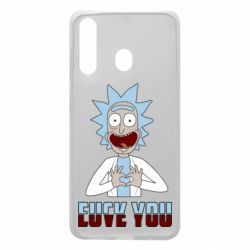 Чохол для Samsung A60 Rick and Morty fack and love you