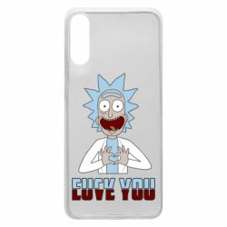Чохол для Samsung A70 Rick and Morty fack and love you