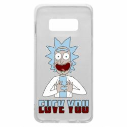 Чохол для Samsung S10e Rick and Morty fack and love you