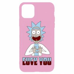 Чохол для iPhone 11 Rick and Morty fack and love you