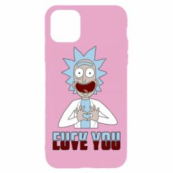 Чохол для iPhone 11 Pro Max Rick and Morty fack and love you