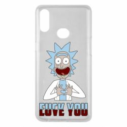 Чохол для Samsung A10s Rick and Morty fack and love you