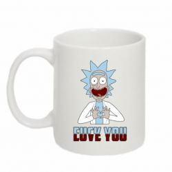 Кружка 320ml Rick and Morty fack and love you