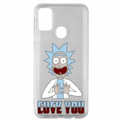 Чохол для Samsung M30s Rick and Morty fack and love you