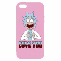 Чохол для iphone 5/5S/SE Rick and Morty fack and love you