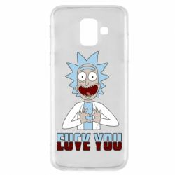 Чохол для Samsung A6 2018 Rick and Morty fack and love you