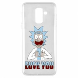 Чохол для Samsung A6+ 2018 Rick and Morty fack and love you