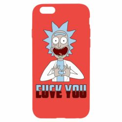 Чохол для iPhone 6/6S Rick and Morty fack and love you