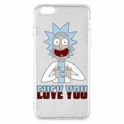 Чохол для iPhone 6 Plus/6S Plus Rick and Morty fack and love you
