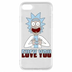 Чохол для iPhone 7 Rick and Morty fack and love you