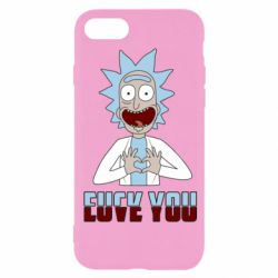 Чохол для iPhone 8 Rick and Morty fack and love you