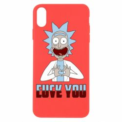 Чохол для iPhone X/Xs Rick and Morty fack and love you