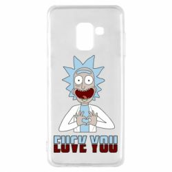 Чохол для Samsung A8 2018 Rick and Morty fack and love you