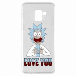 Чохол для Samsung A8+ 2018 Rick and Morty fack and love you