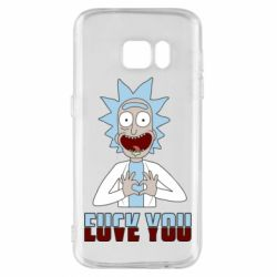 Чохол для Samsung S7 Rick and Morty fack and love you