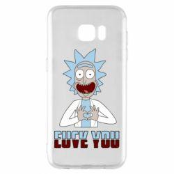 Чохол для Samsung S7 EDGE Rick and Morty fack and love you