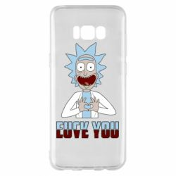 Чохол для Samsung S8+ Rick and Morty fack and love you