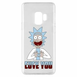Чохол для Samsung S9 Rick and Morty fack and love you