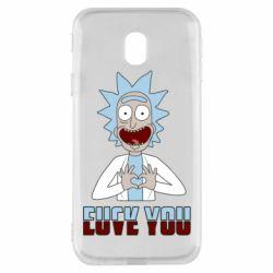 Чохол для Samsung J3 2017 Rick and Morty fack and love you