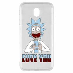 Чохол для Samsung J7 2017 Rick and Morty fack and love you