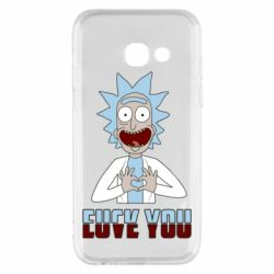 Чохол для Samsung A3 2017 Rick and Morty fack and love you