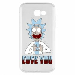 Чохол для Samsung A7 2017 Rick and Morty fack and love you