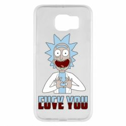 Чохол для Samsung S6 Rick and Morty fack and love you
