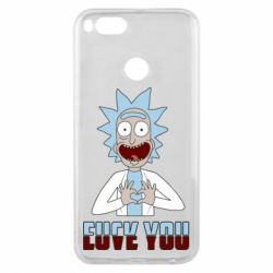 Чохол для Xiaomi Mi A1 Rick and Morty fack and love you