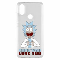 Чохол для Xiaomi Mi A2 Rick and Morty fack and love you